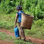Difficult for taking water from far source, AK village, impact to childrent right