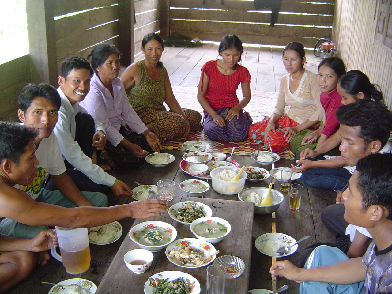 Close project party with villagers in Stung Treng province