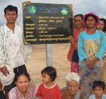 Farmers in Kompong Rotes village participating in the achievement reflection meeting for the restored pond