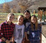 with students at Vail Mountain School